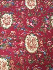 Waverly Saison de Printemp Bordeaux Rooster Red Gold French Country Toile Fabric