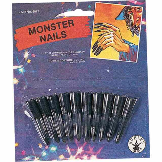 c07b17577cd59 Monster Nails Witch Devil Claws Fancy Dress Halloween Costume Accessory 2  COLORS