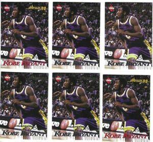 1998-99 Collector's Edge Kobe Bryant Impulse Lot x 6 + + Lakers