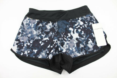Layer 8 NWT The Pace Printed Base Layer Short Rich Black /& White Pattern Sz S