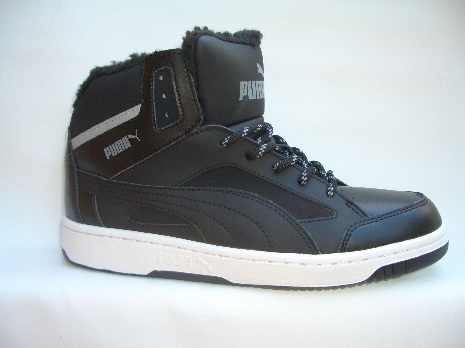 PUMA REBOUND V.2 HI schwarz/grau/wss ...mit warmfutter     Sneaker Sportschuhe