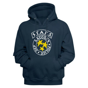 Resident-Evil-S-T-A-R-S-Racoon-Police-Dept-Logo-Navy-Blue-Adult-Pullover-Hoodie