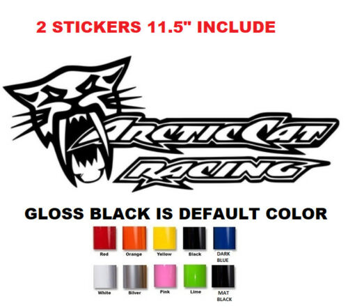 #656 11.5/'/' pair arctic cat racing decal sticker sno pro xf zr hcr limited