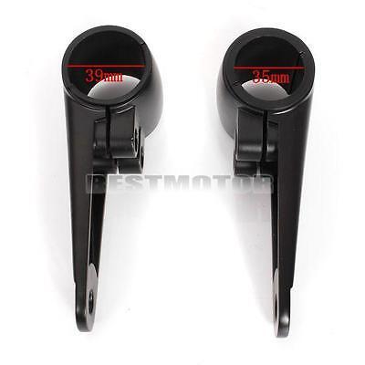 Universal 35/39/41mm Motorcycle Headlight Mount Bracket Fork Ear Bobber Black