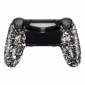 Military-Gamer-Grip-Gehaeuse-PS4-Controller-Slim-Pro-JDM-040-055-Anti-Sweat-White