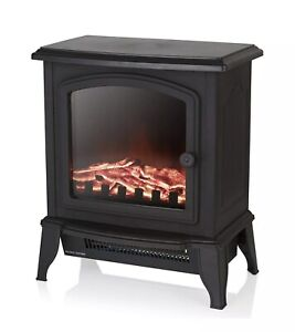 Warmlite WL46021 Electric Compact Stove Fire with Adjustable Thermostat Control