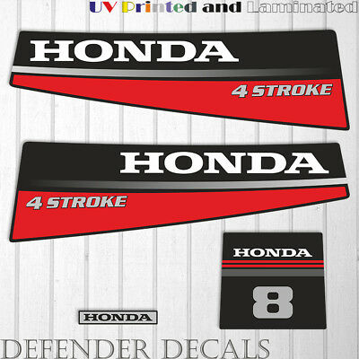 Mariner 8 HP four stroke outboard engine decal sticker set kit reproduction 8HP