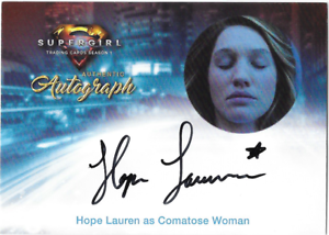 Cryptozoic-Supergirl-Auto-Autograph-Card-Hope-Lauren-Comatose-Woman-HL1