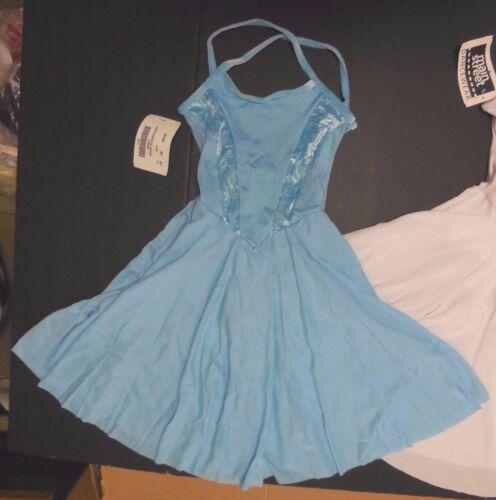 Lyrical Ballet Dance Dress Skirted leotard Velvet Trim Bodice 2 colors offered