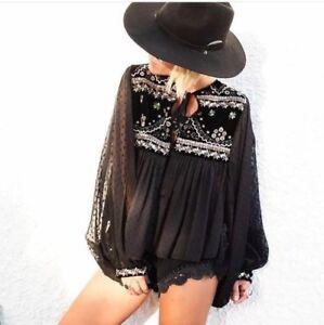 ZARA BLACK VELVET Plumetis Embroidered Jacket Kimono Samt