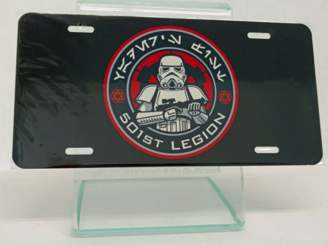 501st Legion Stormtroopers Star Wars High Gloss License Plate