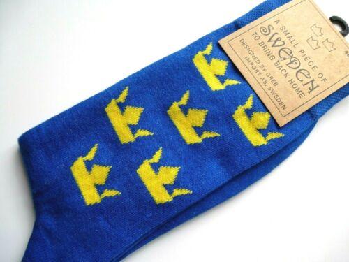 Sverige or 2-5 35-39 40-44 SWEDEN Blue Crown SOCKS UK 6-10
