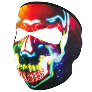 Electric Skull Wnfm098 Motorcycle Biker Ski Neoprene Full Face Mask Reversible Ebay