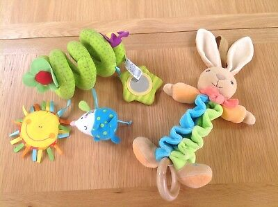 Baby Mothercare Activity Cot Buggy Pram Spiral & Rabbit Toy Bundle With Traditional Methods Other Toys For Baby
