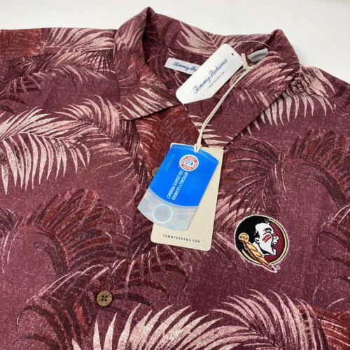Details about  /Tommy Bahama Florida State Seminoles FSU NCAA Silk Floral Maroon Hawaiian Shirt