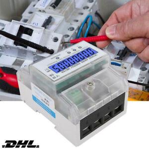 80 3-Phasen-4-Draht Messgerät LCD digitaler Drehstromzähler 3x230//400V 5 A DHL