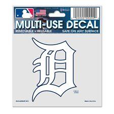 "Detroit Tigers White 3""x4"" Car Decal [NEW] MLB Static Cling Auto Emblem Sticker"