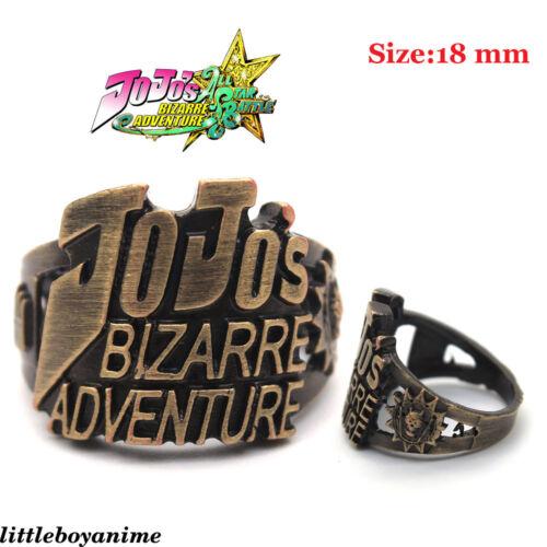 Anime de moda calada Anillo Jojo/'s Bizarre Adventure Metal Bronce Juegos con disfraces Niño Regalo