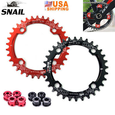 SNAIL 30T MTB Mountain Bike Round Chainwheels 104BCD Single Plate Chain Ring