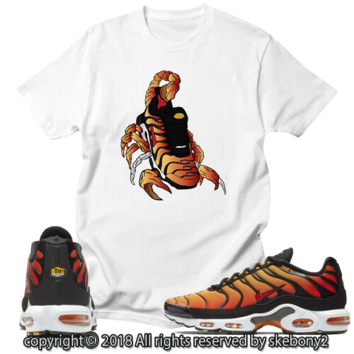 CUSTOM T SHIRT MATCHING STYLE OF Air Max Plus OG Sunset AMP 1-2-8