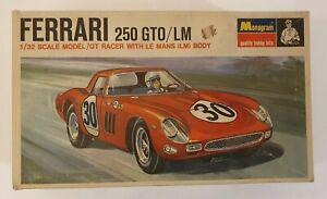 MONOGRAM FERRARI 250 GTO/LM GT RACER WITH LE MANS BODY MODEL KIT 1/32