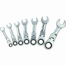 Imperial Sae Af Stubby Flexi Headed Ratchet Spanners Spanner 516 34 7pc