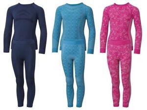 Chicas-Crivit-jovenes-ski-ropa-interior-skiunterwasche-esquiar-invierno-nuevo-G