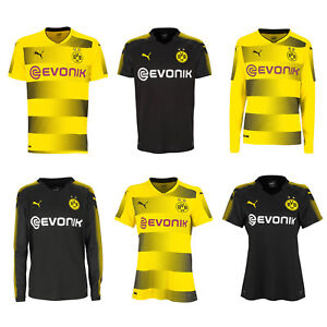 Puma-BVB-Borussia-Dortmund-Herren-Damen-Kinder-Heim-Auswaerts-Trikot-2017-2018