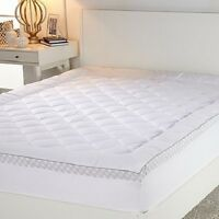Concierge Collection Print Gusset Mattress Pad - Queen - Factory Sealed