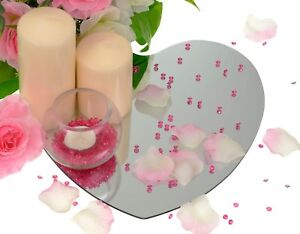 Ordinaire Image Is Loading LOVE HEART GLASS MIRRORS MIRROR PLATES WEDDING TABLE