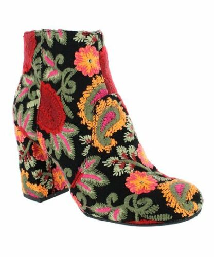 NWB Beautiful Embroidered Ankle Boots by Mia MSRP $89