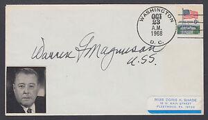 Warren G. Magnuson, US Senator & Congressman from Washington, signed 1968 Cover