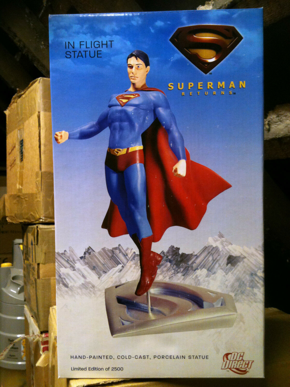 - direkte superman returns in - flight - statue, mib