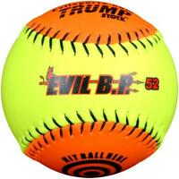 Evil Ball 12 Bp 52 Batting Practice Ball .52/300 Softball- Dozen Evil Bp 52-dz