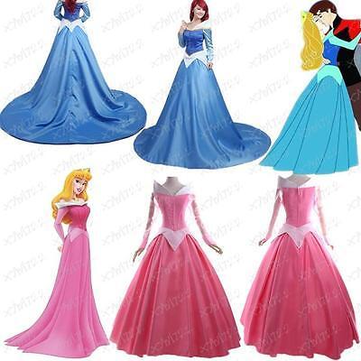 The Sleeping Beauty Aurora Halloween Cosplay Costume Princess Ball Gown Dress