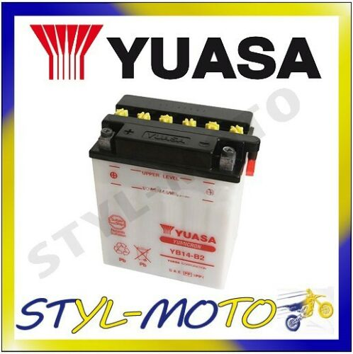 YB14L-A2 BATTERIA ORIGINALE YUASA AD ACIDO TRIUMPH 900 SPRINT 1995