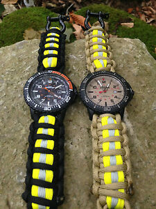 FIREFIGHTER Bunker Turnout Gear Paracord 550 Band on Timex #2: s l300