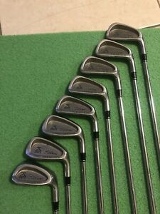 TITLEIST-DCI-BLACK-OVERSIZE-IRONS-STIFF-STEEL-RIGHT-HAND-3-PW-FREE-SHIPPING-OBO