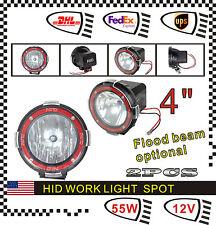"""2pcs 4"""" 55W 12V HID Xenon Work Light Spot Fog Lamp For Offroad SUV ATV Truck UTE"""