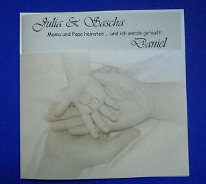 Das Bild Wird Geladen Hochzeitskarte Papi Amp Mami Heiraten Einladung Zur  Traufe