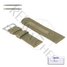 Genuine SEIKO 4A214JL 22mm Beige Nylon Band + Pins | SNZG03 Military Watch Strap