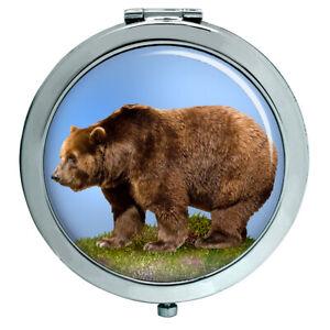 Brauner Bär Kompakter Spiegel