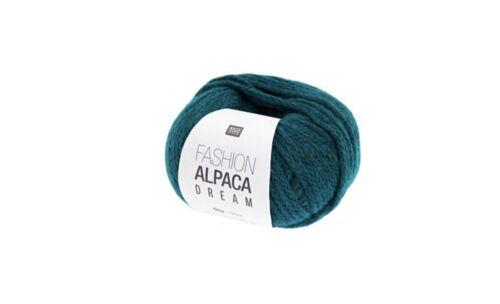 Rico Alpaca DK Dream 50g Ball Col 006 Peacock Green Knitting Crochet Yarn