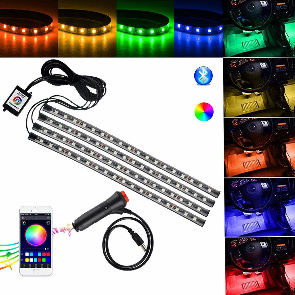 Car Parts - 48 LED Car Charge Interior Accessories Floor Decorative Atmosphere Lamp Light US