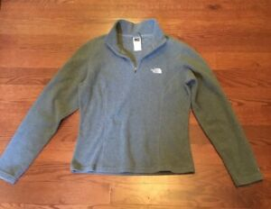 The-North-Face-TKA-100-Gray-Zip-Neck-Fleece-Jacket-Pullover-Women-039-s-Size-Small