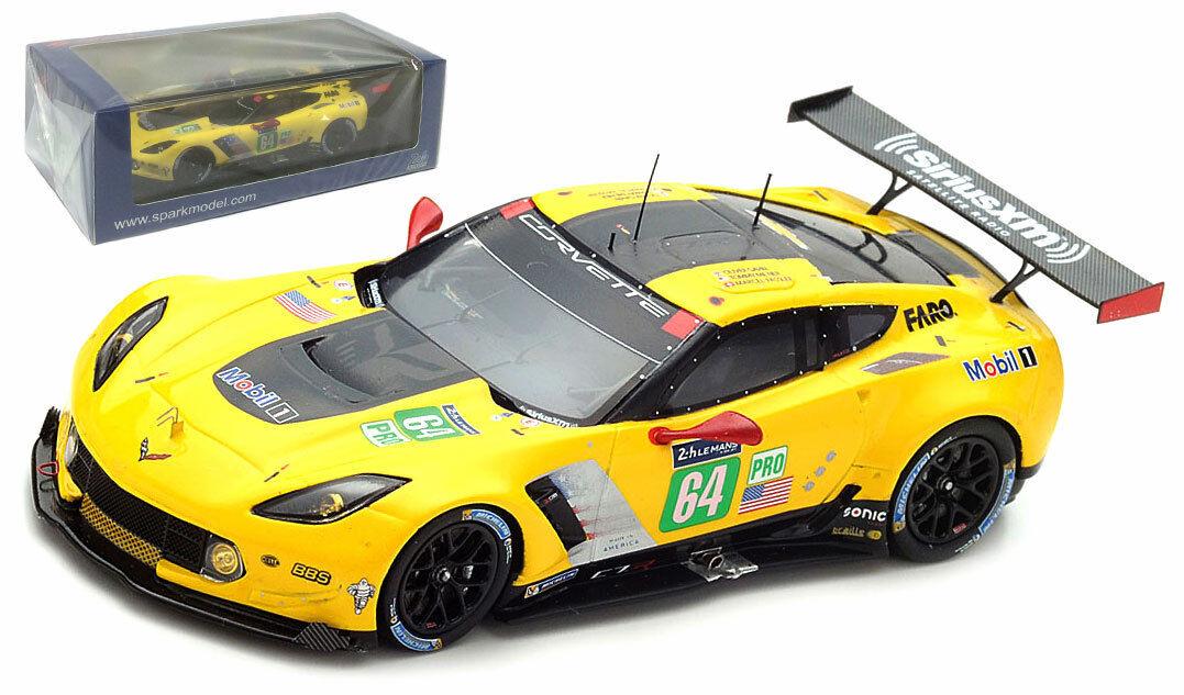 Spark S5832 Corvette C7R 'Corvette Racing GM' Le Mans 2017 - 1 43 Scale
