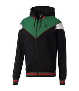Puma LUX MCS Hooded Full Zip Track Jacket Mens Size XXL New Fast Shipping