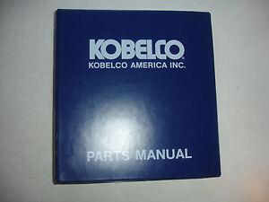 Kobelco SK120 SK120LC Excavator PARTS MANUAL Catalog Service