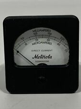 Vintage Motorola Panel Meter0 50 Microamperes And 0 250 Milliamperes Square