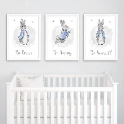 Peter Rabbit Quote Nursery Prints Set